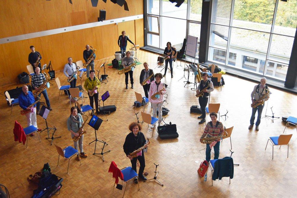 Teilnehmer 3. Saxophoncamp